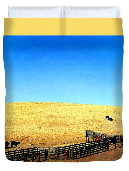 Corral And Chute Duvet Cover