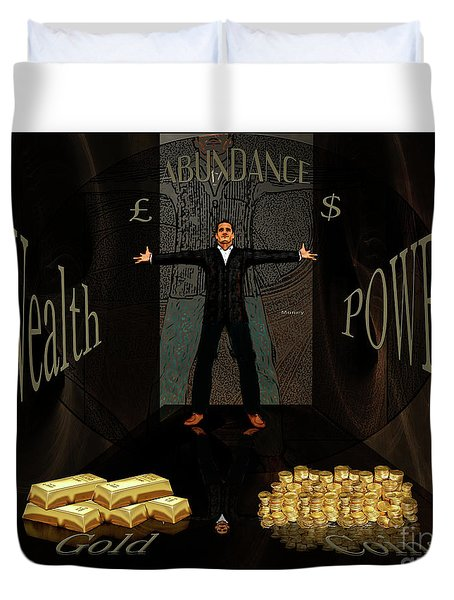 Corridor Of Wealth Duvet Cover