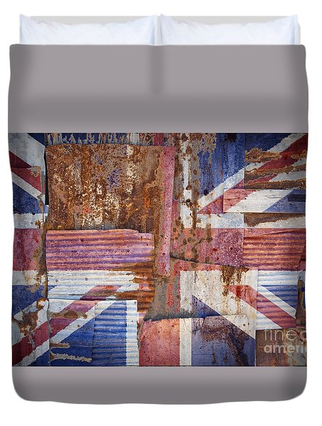 Corrugated Iron United Kingdom Flag Duvet Cover
