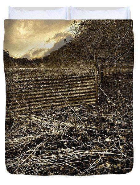 Corrugated Tin Pen Duvet Cover