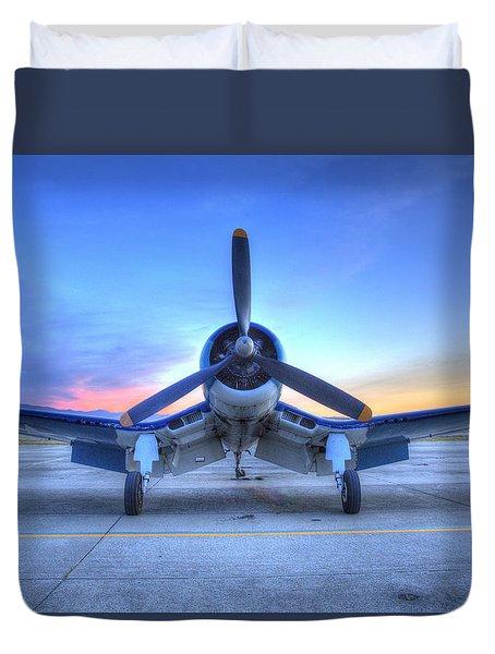 Corsair F4u At The Hollister Air Show Duvet Cover