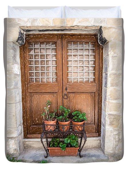 Cortona Brown Door Duvet Cover