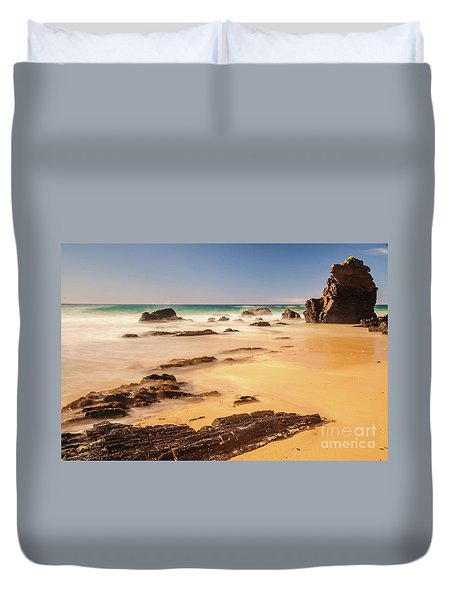 Corunna Point Beach Duvet Cover
