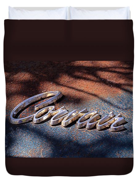 Corvair Emblem Duvet Cover