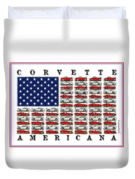 Corvette Americana Duvet Cover