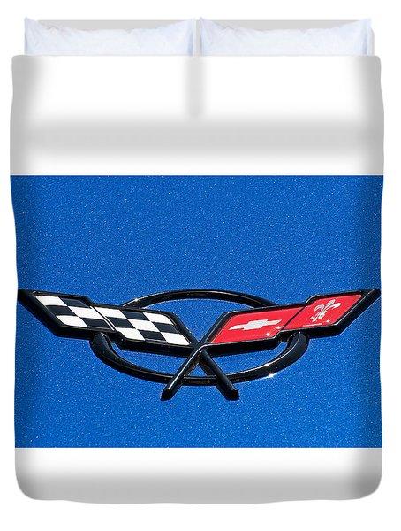 Corvette Blue Duvet Cover