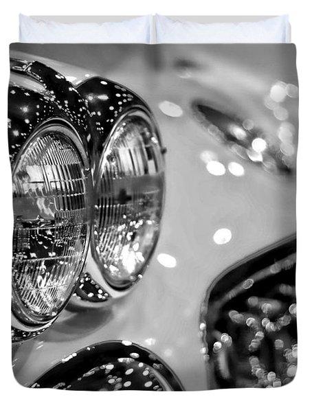 Corvette Bokeh Duvet Cover