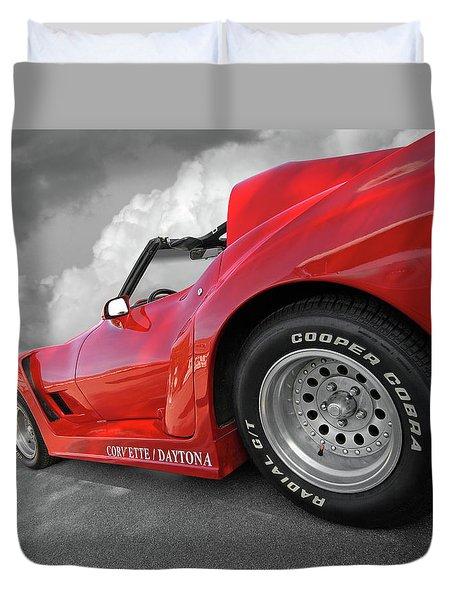 Duvet Cover featuring the photograph Corvette Daytona by Gill Billington
