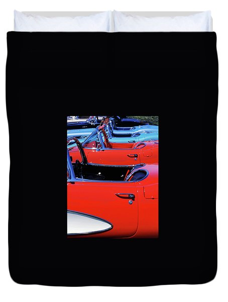 Corvette Row Duvet Cover