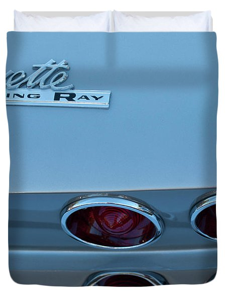 Duvet Cover featuring the photograph 1967 Corvette Sting Ray by Jani Freimann