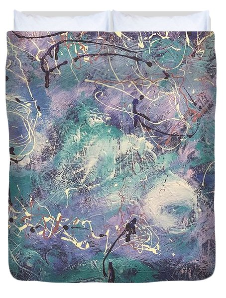 Cosmic Abstract Duvet Cover