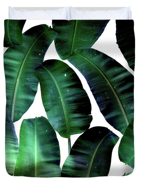 Cosmic Banana Leaves Duvet Cover