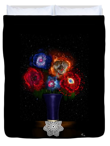 Cosmic Bouquet Duvet Cover