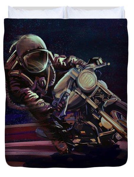 Cosmic Cafe Racer Duvet Cover