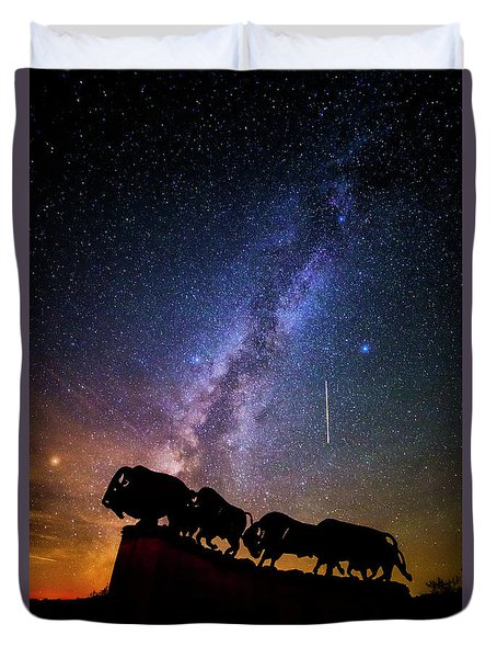 Duvet Cover featuring the photograph Cosmic Caprock by Stephen Stookey