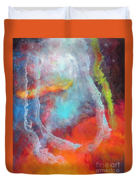 Fantasies In Space Series Painting. Cosmic Concerto Duvet Cover