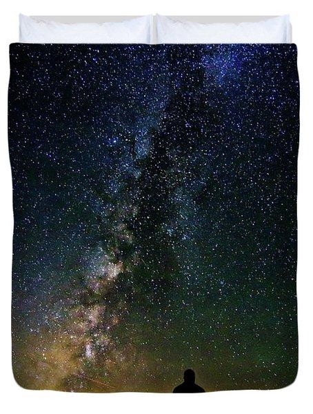 Cosmic Contemplation Duvet Cover