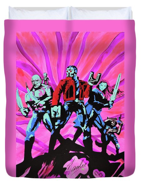 Cosmic Guardians Of The Galaxy 2 Duvet Cover