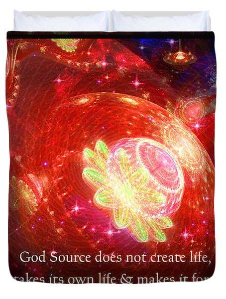 Cosmic Inspiration God Source 2 Duvet Cover