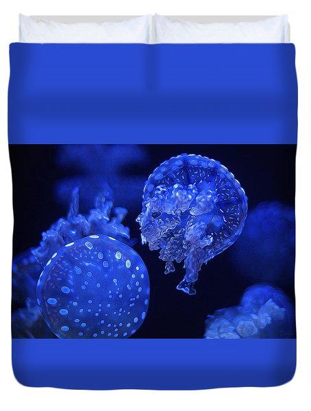 Cosmic Jellyfish 3 Duvet Cover