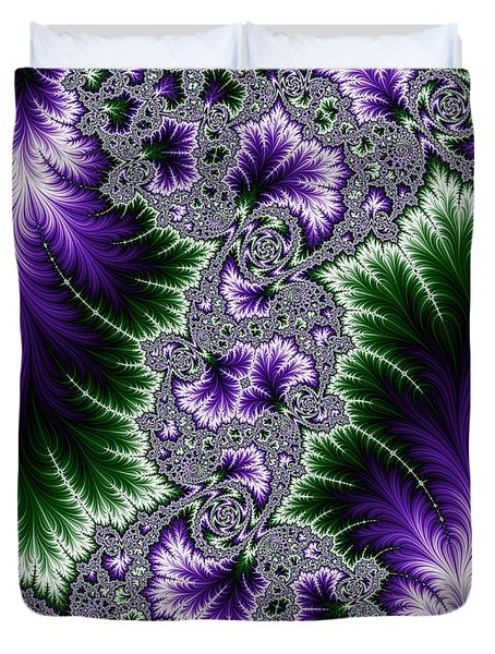 Cosmic Leaves Duvet Cover