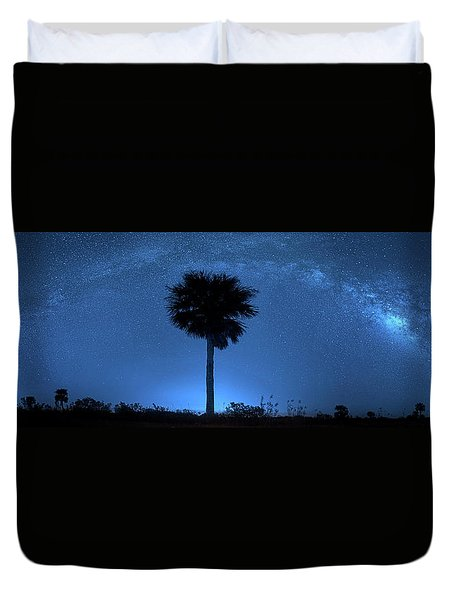Duvet Cover featuring the photograph Cosmic Night by Mark Andrew Thomas
