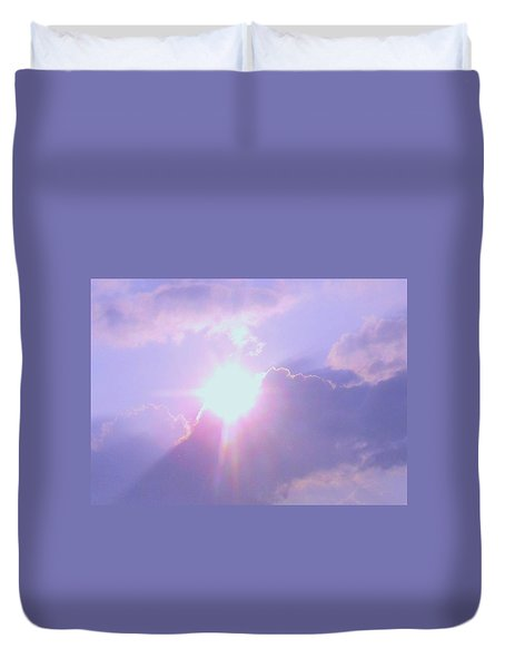 Cosmic Rays Of Love Duvet Cover