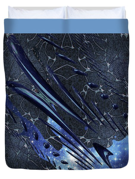 Duvet Cover featuring the photograph Cosmic Resonance No 5 by Robert G Kernodle