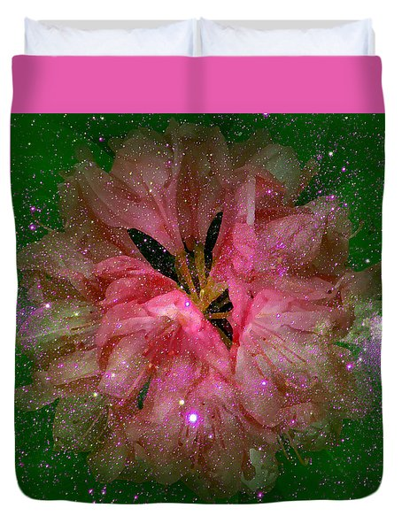 Cosmic Rhododendron Duvet Cover
