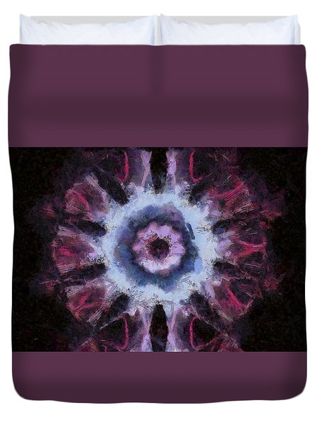 Abstract Visuals - Cosmic Rose Duvet Cover
