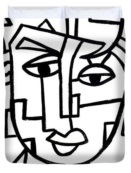 Cosmopolitan Man - Painting Duvet Cover