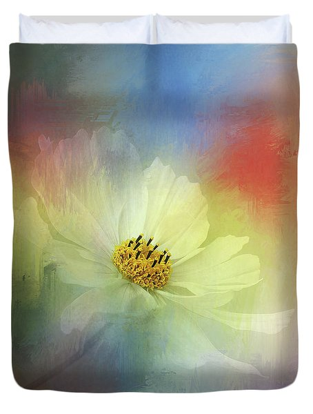 Cosmos Dreaming Abstract By Kaye Menner Duvet Cover by Kaye Menner