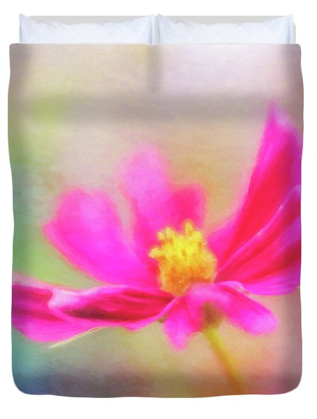 Cosmos Flowers Love To Dance Duvet Cover
