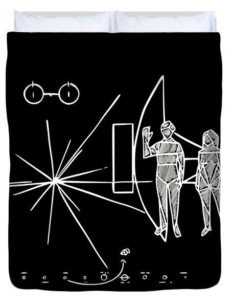 Cosmos Greetings  Duvet Cover
