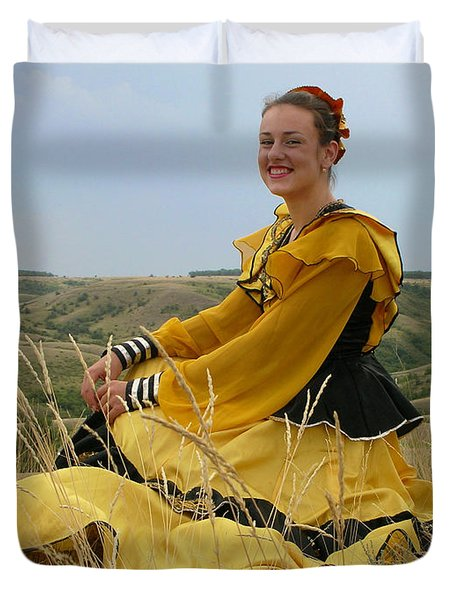 Cossack Young Lady Duvet Cover