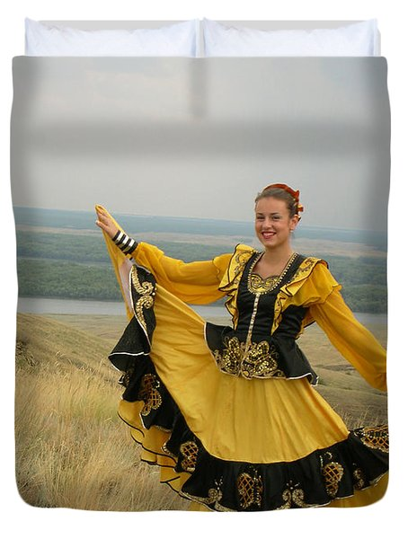 Cossack Young Woman Duvet Cover