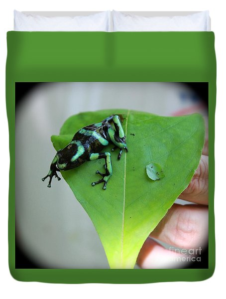 Costa Rican Poison Dart Frog Duvet Cover by The Art of Alice Terrill