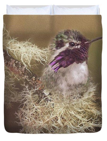 Costas Hummingbird Painted Duvet Cover