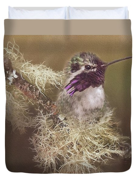 Costas Hummingbird Painted Duvet Cover