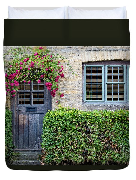 Duvet Cover featuring the photograph Cotswolds Cottage Home by Brian Jannsen