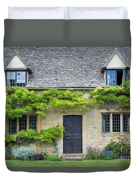 Duvet Cover featuring the photograph Cotswolds Cottage Home II by Brian Jannsen