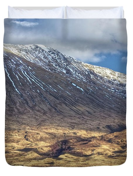 Cottage At The Base Of The Mountain Duvet Cover