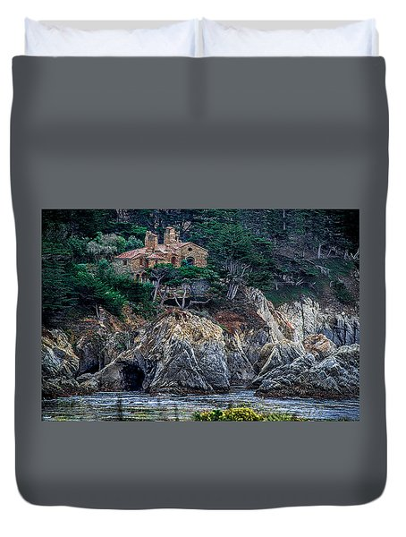 Cottage By The Ocean  Duvet Cover