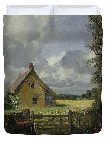 Cottage In A Cornfield Duvet Cover