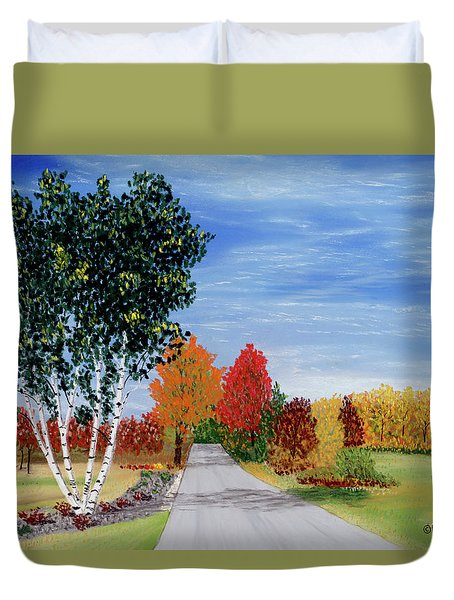 Cottage Row Duvet Cover