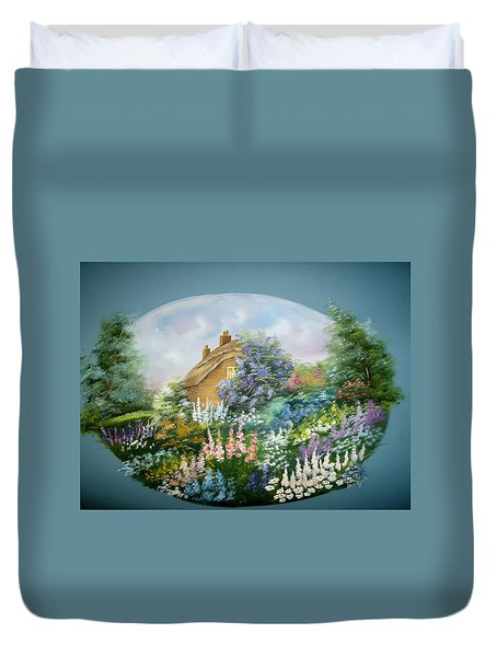 Cottage Vignette Duvet Cover
