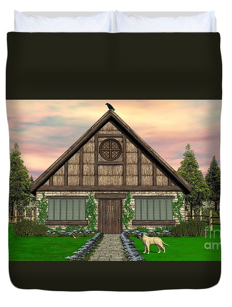 Cottage Duvet Cover by Walter Colvin