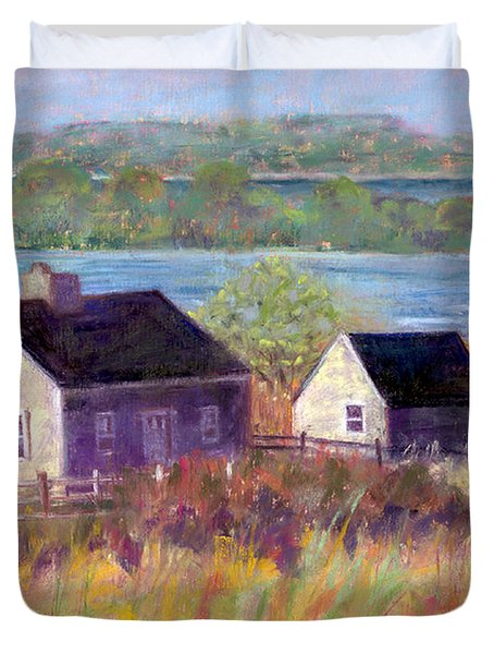 Cottages By The Bay Duvet Cover