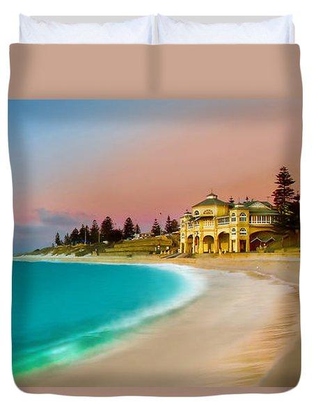 Cottesloe Beach Sunset Duvet Cover by Az Jackson