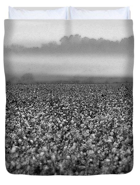 Cotton And Fog Duvet Cover by Michael Thomas
